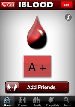 Iblood Group Votre Carte De Groupe Sanguin Sur Votre Iphone Iphoneaddict Fr