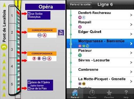 Paris-ci la sortie du métro
