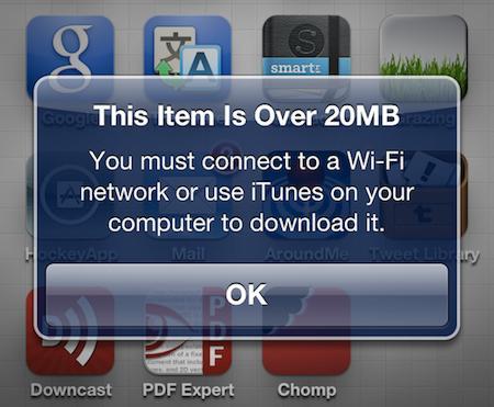 App Store : Apple pourrait ajuster la limite de téléchargement en 3G