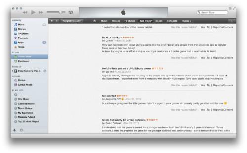 critiques utilisateurs app store
