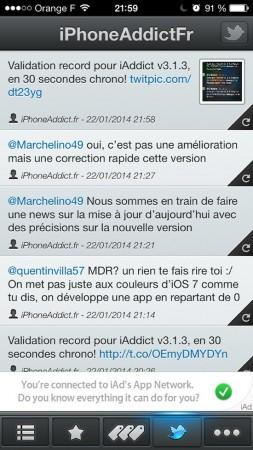 iaddict 3.1.3 twitter