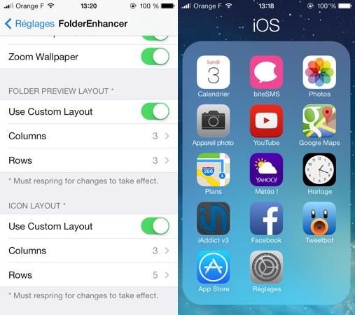 FolderEnhancer iOS 7 Tweak