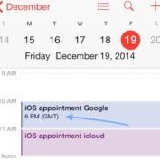 iOS 8 : un bug entre les fuseaux horaires et la synchronisation dans l'application Calendrier